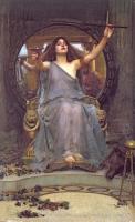 ジョン・ウィリアム・ウォーターハウス 《オデュッセウスに杯を差し出すキルケー》 1891年 油彩・カンヴァス オールダム美術館蔵 © Image courtesy of Gallery Oldham