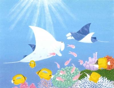 絵画展 口と足で表現する世界の芸術家たち(高崎)